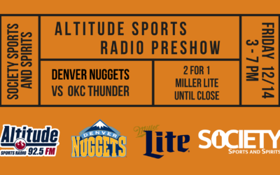 Altitude Sports Radio Preshow at Society Sports and Spirits